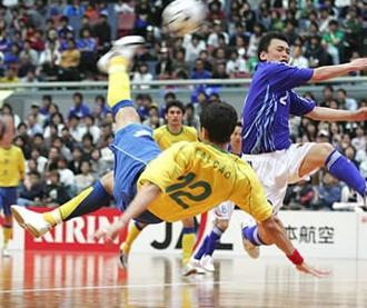 Brasilian futsal player Falcao